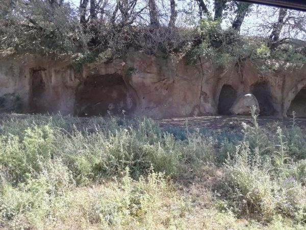 One of the many Etruscan tombs along river Mignone